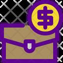 Cash Bag Banking Icon