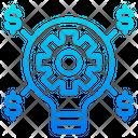 Light Blub Money Gear Icon