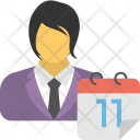 Appointment Scheduling Businessman Icon
