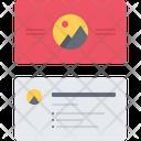 Business Card Design Icon