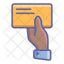 Business Card Finger Icon