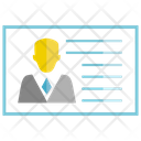 Business Card Employer Employee Icon