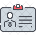 Business Card Strategy Icon