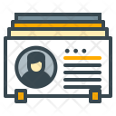 Contacts Business Cards Icon
