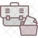 Business Case Documents Bag Office Bag Icon
