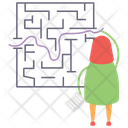 Business Challenge Business Solution Business Maze Icon