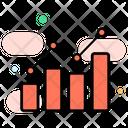Business Chart Bar Graph Statistical Presentation Icon