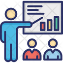 Business Chart Business Meeting Business Presentation Icon