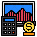 Computer Calculator Business Icon