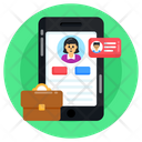 Mobile Chat Business Chat Business Conversation Icon