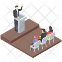 Business Speech Business Conference Business Meeting Icon