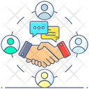Business Communication Business Deal Partnership Icon
