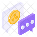 Financial Chat Financial Communication Financial Conversation Icon