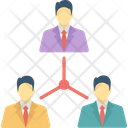 Business Community Network Business Networking Group Distant Work Icon
