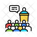 Business Conference Color Icon