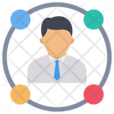 Business Connection Employee Manager Icon