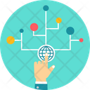 Business Connectivity Globe Icon