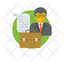 Business Consulting Business Analyst Trading Manager Icon