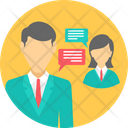Business Conversation Chat Icon