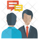 Business Conversation Meeting Communication Icon