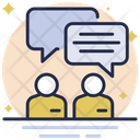 Business Conversation Discussion Business Icon