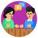 Bitcoin Discussion Bitcoin Communication Financial Communication Icon