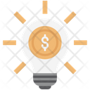 Dollar Creativity Bulb Business Bright Icon
