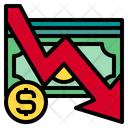 Business Down Currency Icon