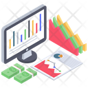 Business Data Online Analytics Business Infographic Icon