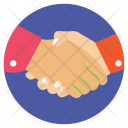 Two Handshaking Partners Icon