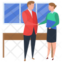 Business Meeting Business Deal Hand Shaking Icon