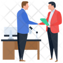 Business Deal Handshaking Business Relationship Icon
