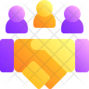 Team Deal Negotiotion Icon