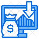 Computer Business Down Arrow Icon