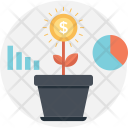 Growth Plant Bar Icon