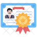 Business Diploma Business Certificate Deed Icon