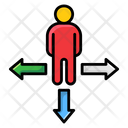 Arrows Direction Approach Icon