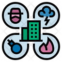 Business Disaster Business Risk Company Icon