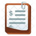 Dollar Statement Bank Document Business Document Icon