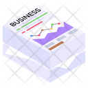 Analytics Papers Business Documents Business Reports Icon