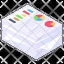 Data Visualization Business Reporting Annual Reports Icon