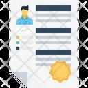 Business Employee Resume Icon