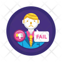 Business Fail Business Loss Loss Icon
