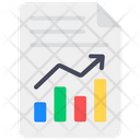 Business File Corporate File Growth Document Icon