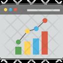 Business Forecast Data Analytics Financial Graph Analysis Icon