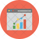 Business Forecast Data Analytics Financial Graph Analysis Icon