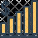 Seo Graph Dollar Icon