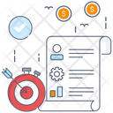 Idea And Goal Business Target Business Goal Icon