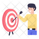 Business Aim Business Goal Business Target Icon