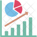 Business Raise Business Success Graphical Representation Icon